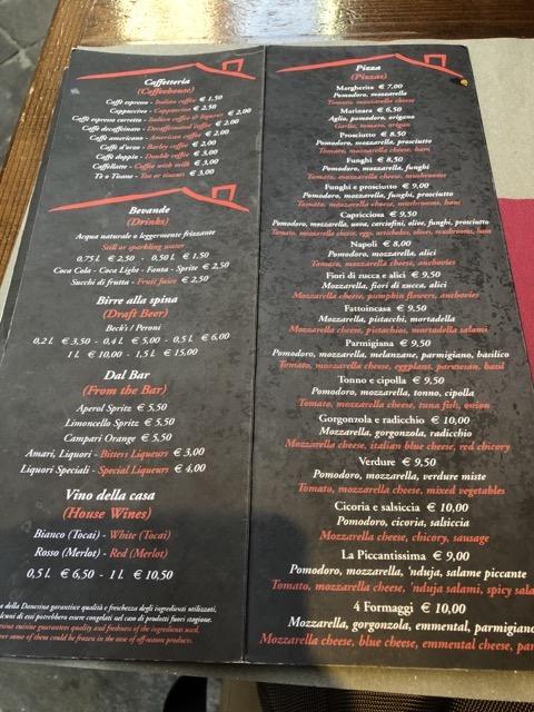 fattoinicasa menu