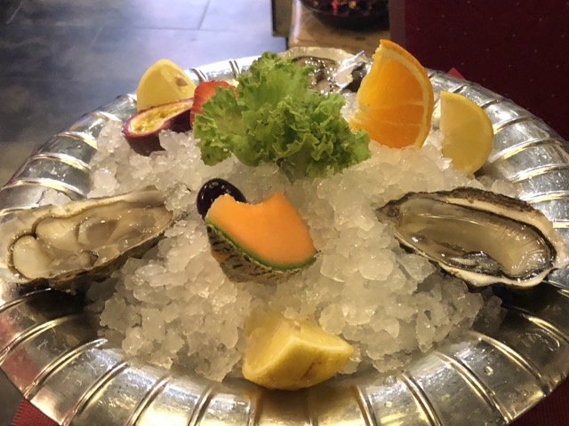oyster and fruit