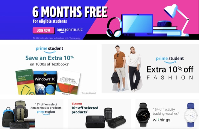 amazon prime student promotions intro