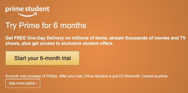 amazon prime student start page