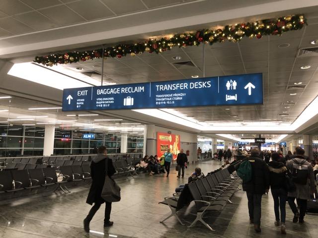 prague airport arrivial
