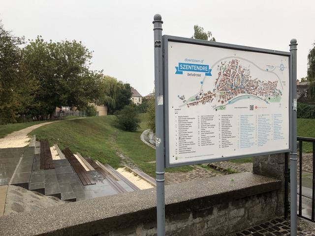szentendre direction map