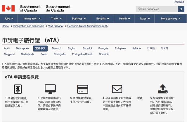 [指南] 加拿大電子旅行簽證申請 Canada eTA Application