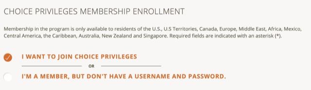 choice privilege register