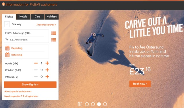 easyjet index page