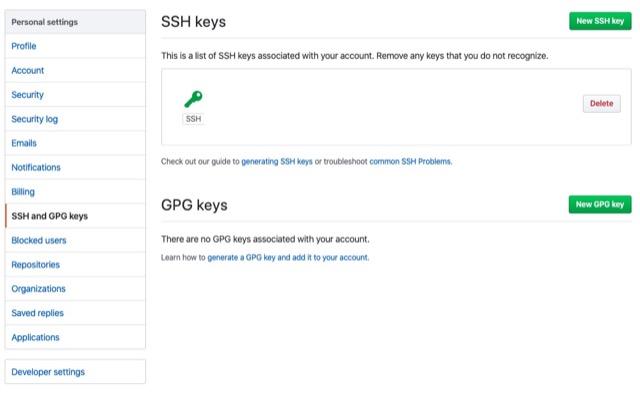 github-clone-repository-through-ssh setting