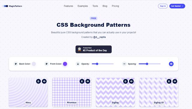 css-background-patterns-generator