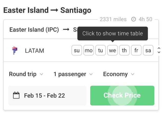 flight connection schedule