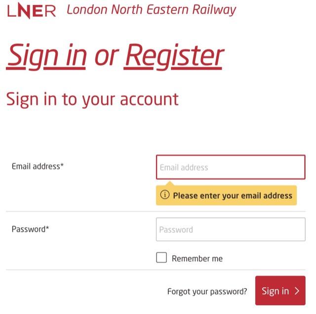 LNER register