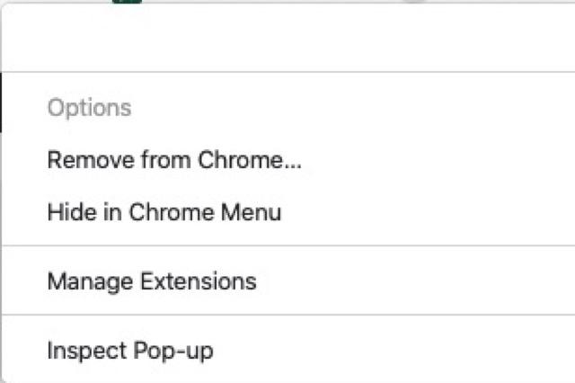 google-extension right click