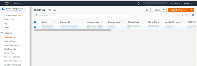 aws setting ec2 demo1
