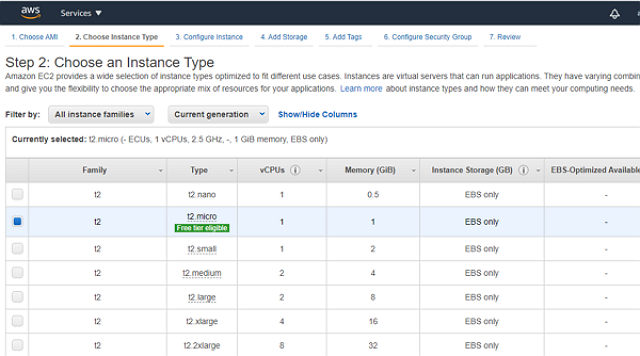 aws setting ec2 demo5