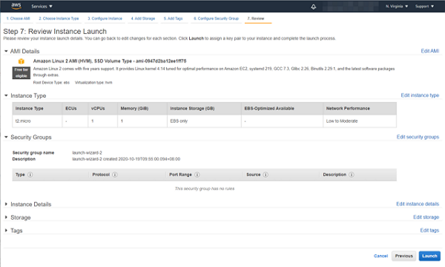 aws setting ec2 demo4