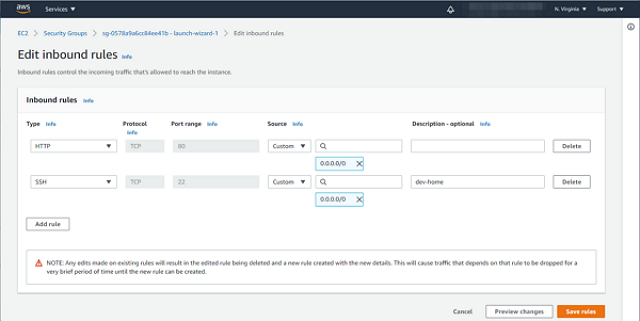 aws setting ec2 demo2