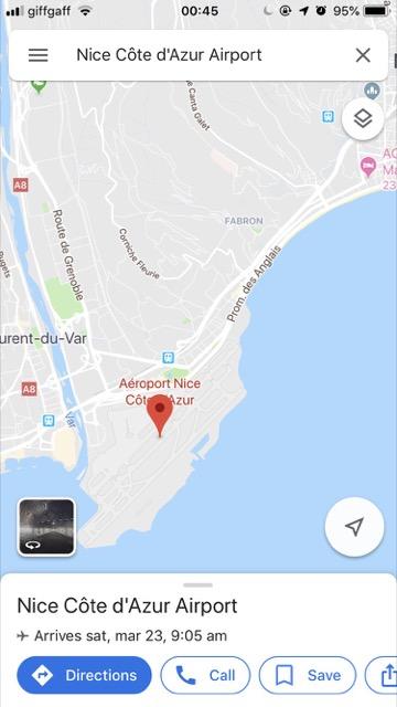 google map nice france