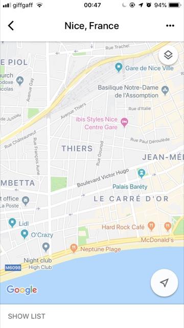 google map nice france central