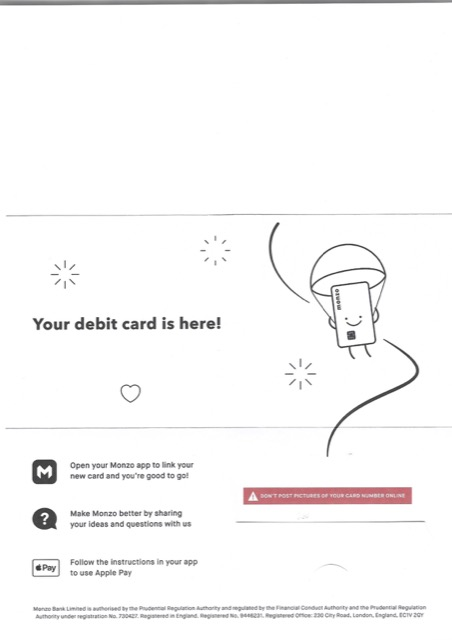 monzo delivery