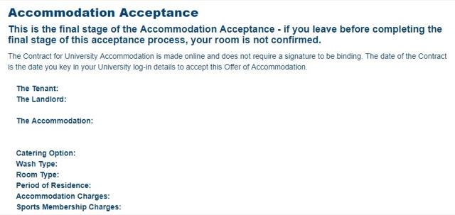 accommodation acceptance