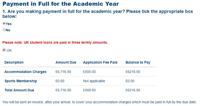 tuition fee information