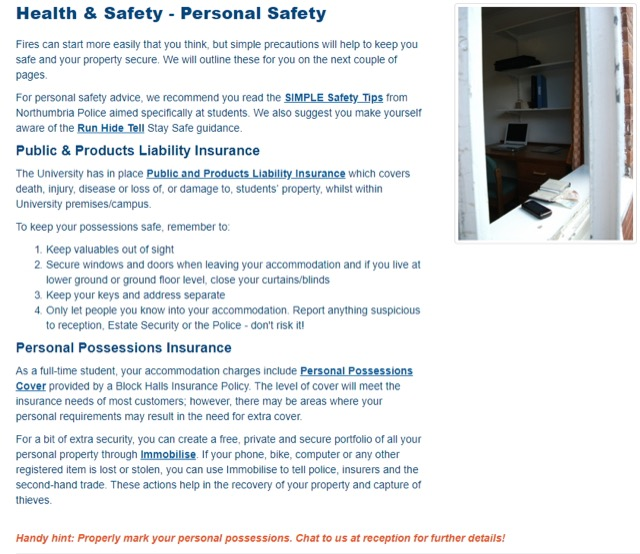 accommodation safety guide
