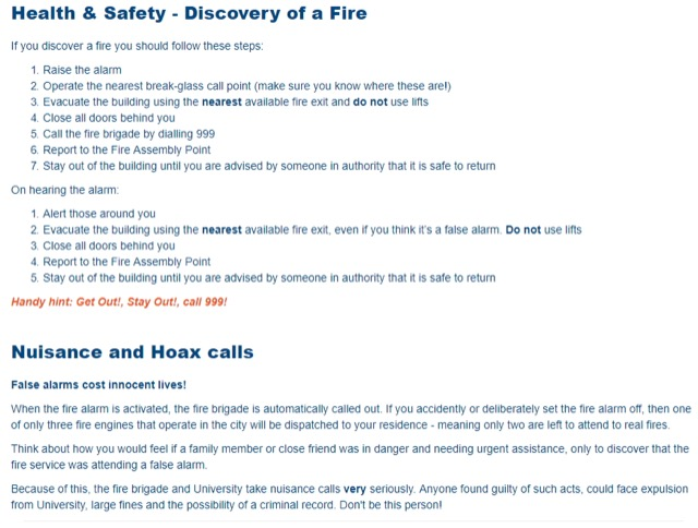 accommodation health safety guide