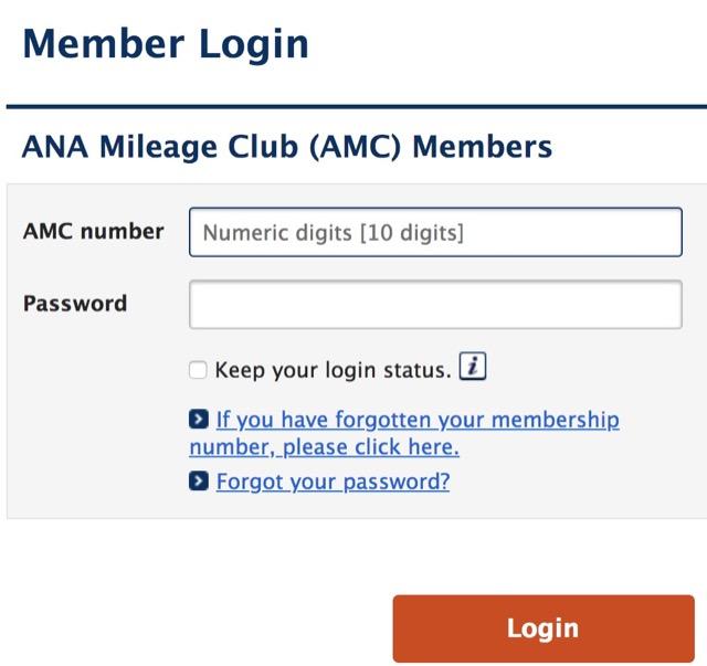 ana member login