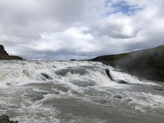iceland gullfoss upstream