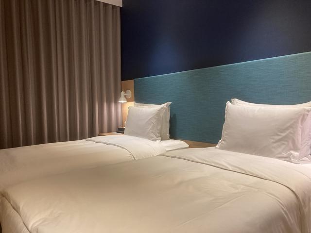 holidayInn Taichung Fengchia  bed
