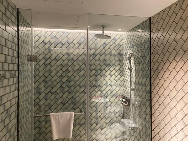 ihg-indigo-taipei-taiwan deluxe room inside shower area