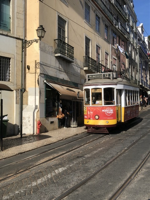lisbon-tram tram view