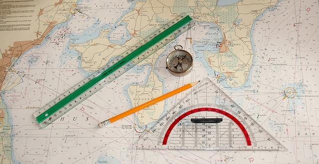 chart ruler pencil