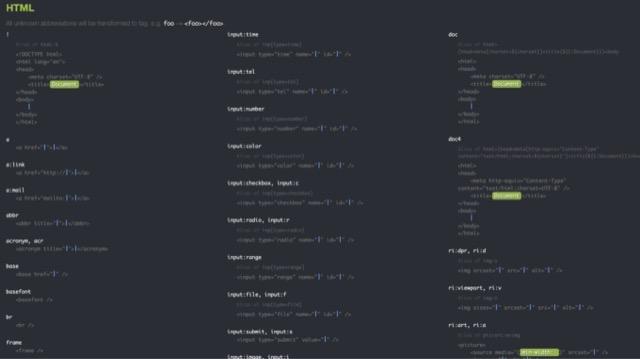 coding emmet