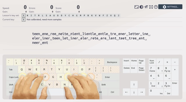 typing-pratice-training index