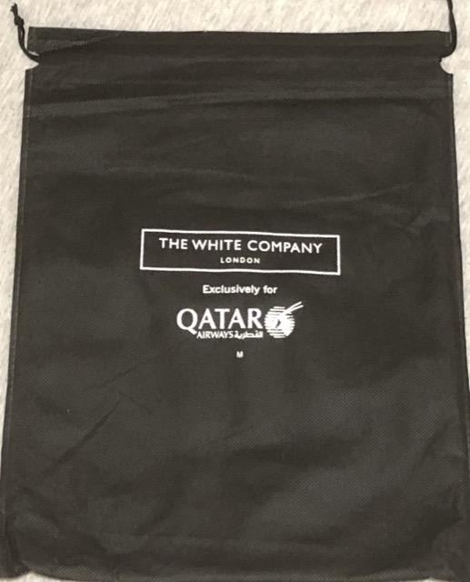 [體驗] QR 卡達航空長程線商務艙睡衣套組