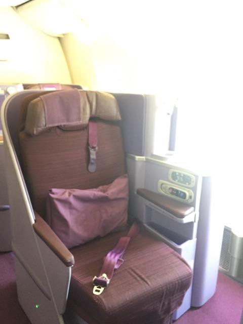 business class seat tg