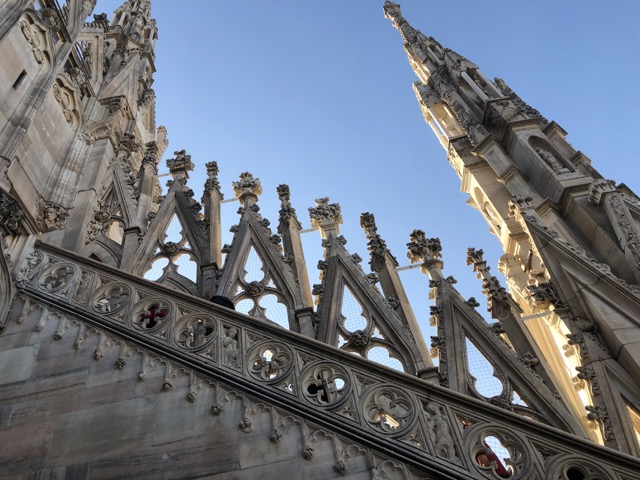 milan cathedral stairs