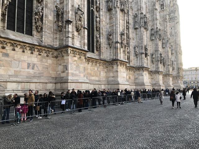 milan cathedral line