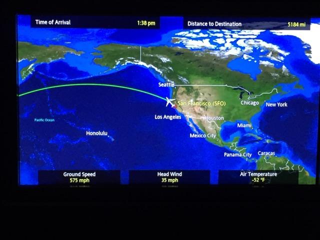 [飛行體驗] UA875 聯合航空商務艙 (SFO美國舊金山-HND東京羽田)