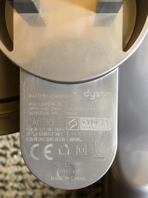 dyson v6 mattress charger